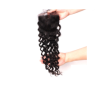 "Closure, brazilian hair curly 10""-20"" fr."
